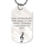 Christian s Dog Tag - Dog Tag (One Side)
