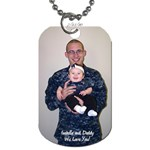 Daddy Dog Tah - Dog Tag (Two Sides)