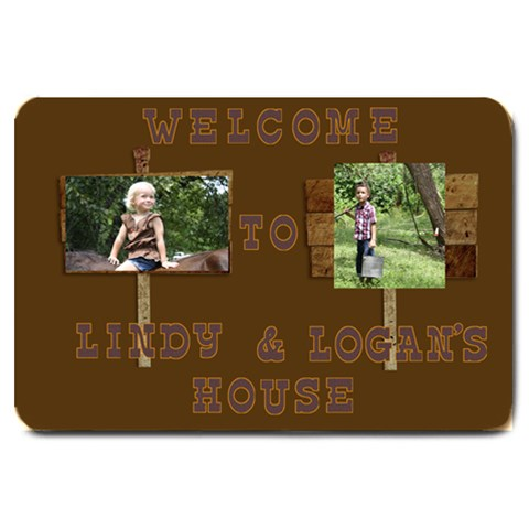 Logan And Lindy Door Mat By Tammie   Large Doormat   Ispb02mzswc8   Www Artscow Com 30 x20 Door Mat - 1