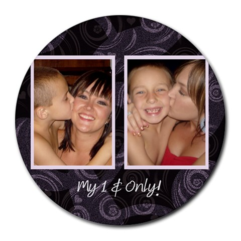 Mouse Pad By Nicole Heater   Collage Round Mousepad   Zipq75r32kxx   Www Artscow Com 8 x8 Round Mousepad - 1