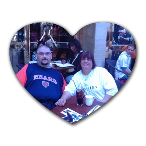 Me And Kev In Paris By Sherlyn Edwards   Heart Mousepad   Wnqy4d8l6u1j   Www Artscow Com Front