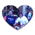 me and kev in paris - Heart Mousepad