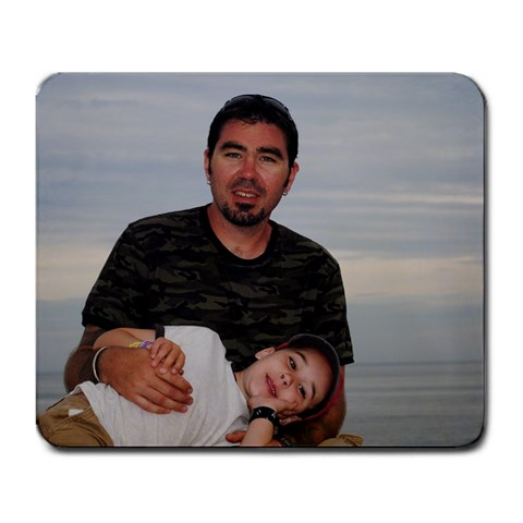 Gavin And Daddy By Sarah Bolton   Large Mousepad   Fbyls297yp1q   Www Artscow Com Front