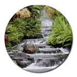 waterfall - Round Mousepad