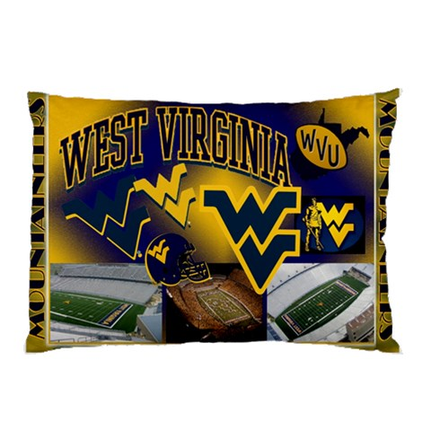 Showin  Some Wvu Spirit By Jessica Pelfrey   Pillow Case   Lbz2ih9f1q1q   Www Artscow Com 26.62 x18.9 Pillow Case