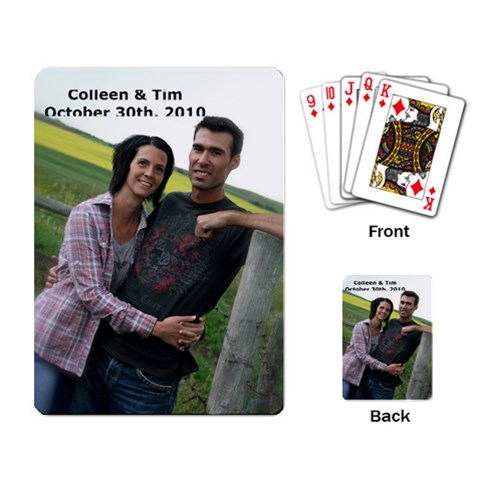 Wedding Card By Colleen   Playing Cards Single Design   0rqhyylqo897   Www Artscow Com Back