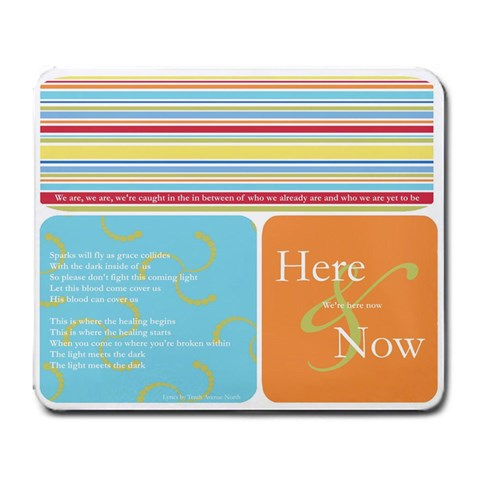 Here Now By Brenda   Large Mousepad   Lhq8u6km2816   Www Artscow Com Front