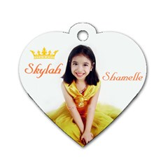 Skylah s Heart Shaped Dog Tag By Czaroma   Dog Tag Heart (two Sides)   B9d5463akrms   Www Artscow Com Front