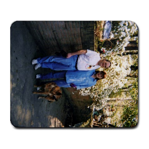 Mark, Me, And Lexie By Eva Peck   Large Mousepad   Tqwijxl2z6sz   Www Artscow Com Front