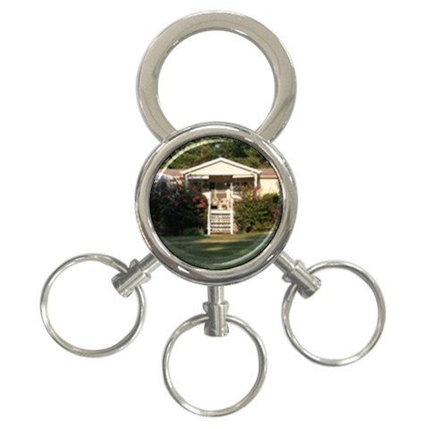 Key Chain For Mom & Dad For Lake House Keys By Wendy Green   3 Ring Key Chain   Txccf3u93bcz   Www Artscow Com Front