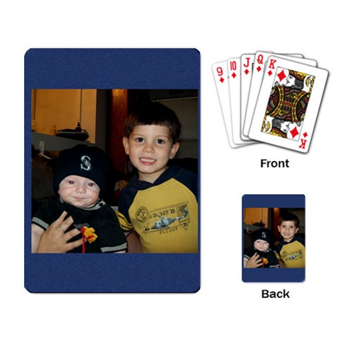 Bryce & Alex By Sarah   Playing Cards Single Design   Cy0ucm9zr3wp   Www Artscow Com Back