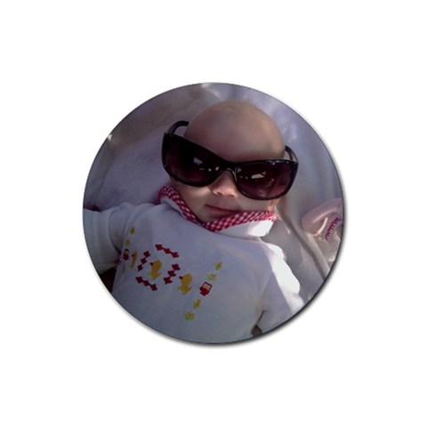 Little Diva  By Michaelann Dach   Rubber Coaster (round)   0gyi0m4sn0tq   Www Artscow Com Front