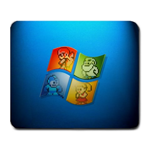 Mega Man For Windows By Jonathan Mcwhorter   Large Mousepad   Vnci799t5l66   Www Artscow Com Front