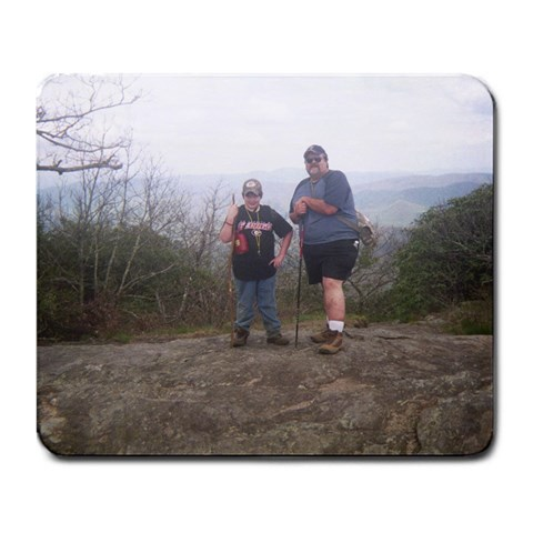 Blood Mountain Hike  Barry And Will By Mary Massey Treadwell   Large Mousepad   Aponvi6i8hsx   Www Artscow Com Front