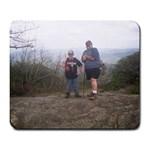 BLOOD MOUNTAIN HIKE--BARRY AND WILL - Large Mousepad