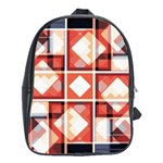 Abstract squares School Bag (Large)