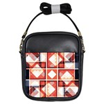 Abstract squares Girls Sling Bag