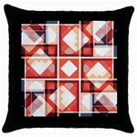 Abstract squares Throw Pillow Case (Black)