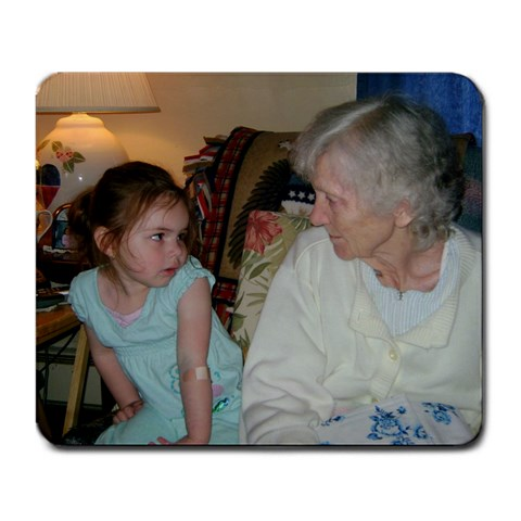 Zoe And Her Great Grandma By Rebecca Baker Zuniga   Large Mousepad   Bxqy3lbv923k   Www Artscow Com Front