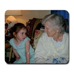zoe and her great grandma - Large Mousepad