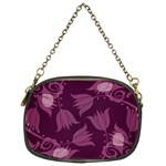 Purple Tulips Squares Chain Purse (Two Sides)