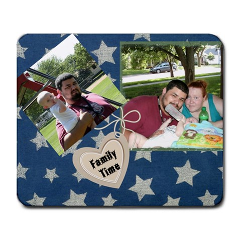 Family Time By Ashley Hawk   Collage Mousepad   S1ctc2vhlkvl   Www Artscow Com 9.25 x7.75 Mousepad - 1