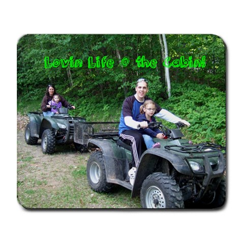 Lovin Life At The Cabin By Rob Zyskowski   Collage Mousepad   Vjklosmj22hv   Www Artscow Com 9.25 x7.75 Mousepad - 1