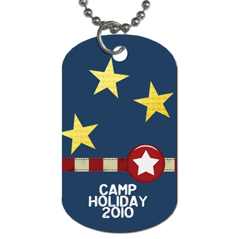 Camp Holliday1 By Linnell Fowers   Dog Tag (one Side)   1h4s3n2a1n7j   Www Artscow Com Front