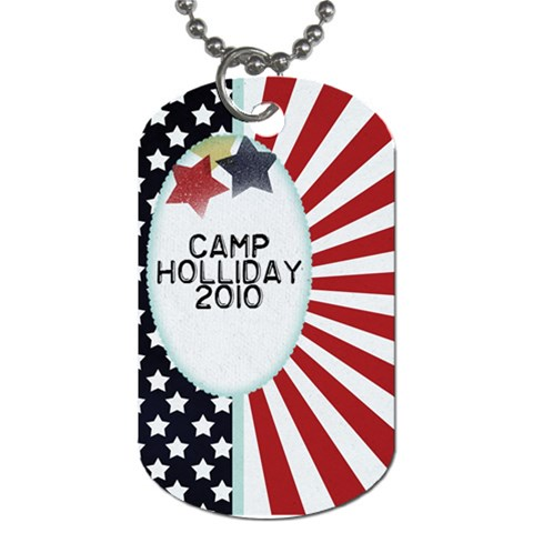 Camp Holliday2 By Linnell Fowers   Dog Tag (one Side)   9wff99ag386k   Www Artscow Com Front