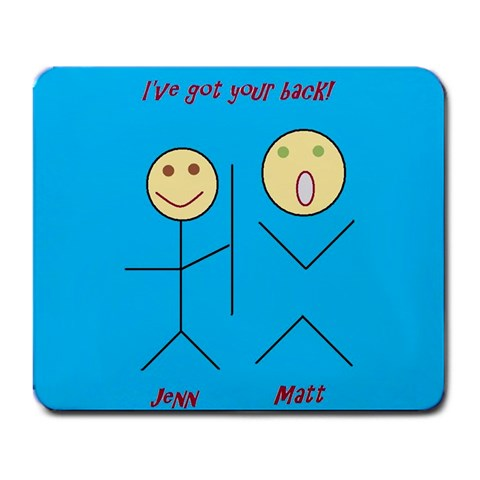 I ve Got Your Back By Jennefier Patterson   Large Mousepad   Ryra0wn3hkys   Www Artscow Com Front