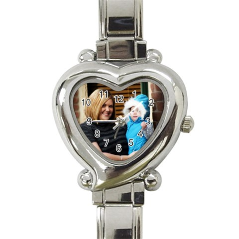 Heart Watch By Brittni Bunce   Heart Italian Charm Watch   5wy6zhizb2o2   Www Artscow Com Front