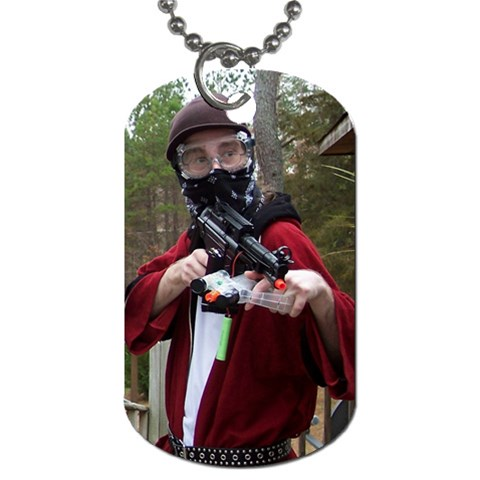 Playing Airsoft War Games By Judy   Dog Tag (one Side)   Hj4okw5s13nd   Www Artscow Com Front