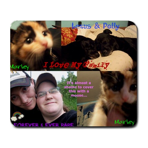 Family Mousepad By Steph Mackenzie   Collage Mousepad   Wwlg182x9rek   Www Artscow Com 9.25 x7.75 Mousepad - 1