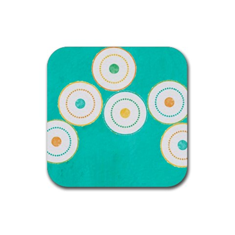 Summer Set Coaster 1 By J   Rubber Coaster (square)   Fl8rtxotbeg4   Www Artscow Com Front