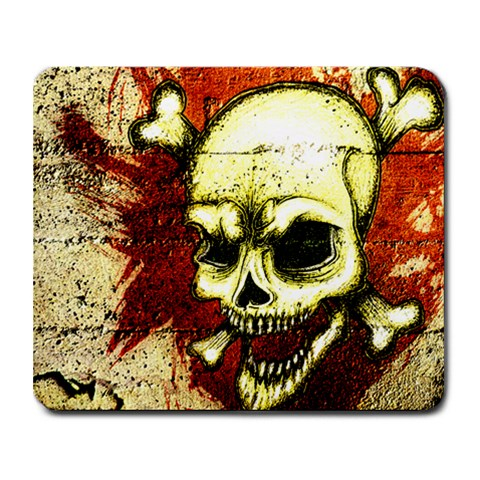 Grunge Skulled Pad By Korai   Collage Mousepad   5nntge23jbct   Www Artscow Com 9.25 x7.75 Mousepad - 1