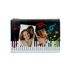 Music Bag By Wood Johnson   Cosmetic Bag (medium)   Vbfifmqb4ihs   Www Artscow Com Front