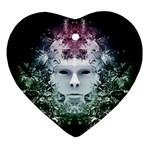 Face of Nature Heart Ornament (Two Sides)