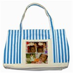 baby bag - Striped Blue Tote Bag