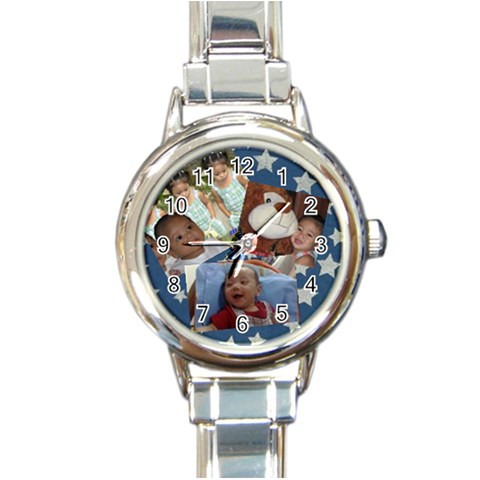 Watchy By Michelle Tiu   Round Italian Charm Watch   5xy8hwvzgwvo   Www Artscow Com Front