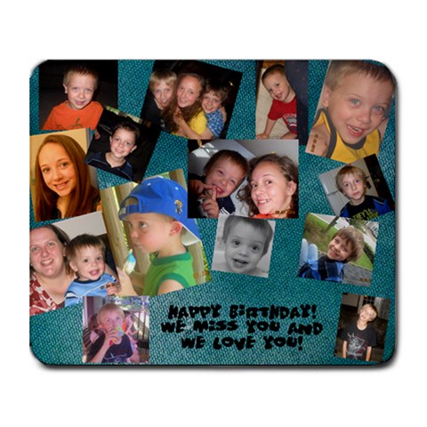 Dad s Birthday By Heather Mills Orr   Collage Mousepad   A68h3q3p5dke   Www Artscow Com 9.25 x7.75 Mousepad - 1