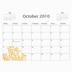 Momcalender By Blair Hill   Wall Calendar 11  X 8 5  (12 Months)   0rb6x5u7if9u   Www Artscow Com Oct 2010