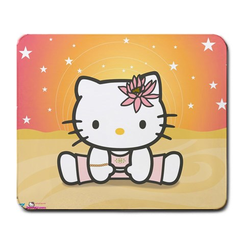 Yoga Hello Kitty Mousepad By Mitogirl   Large Mousepad   Us7o4jgk2ok7   Www Artscow Com Front
