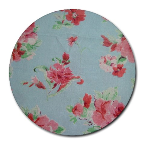 Old Rose Chintz By Rachael Wise   Round Mousepad   72udot63aj6m   Www Artscow Com Front