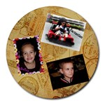 My three kiddos - Collage Round Mousepad
