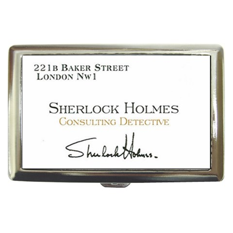 Sherlock Holmes By Erin Burns   Cigarette Money Case   Phwt8kze109h   Www Artscow Com Front