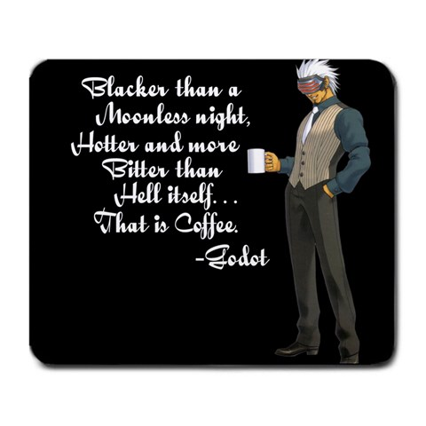 Godot Quote By Michael Boston   Large Mousepad   8ra7uycpoo7w   Www Artscow Com Front