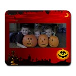 Halloween cousins - Large Mousepad