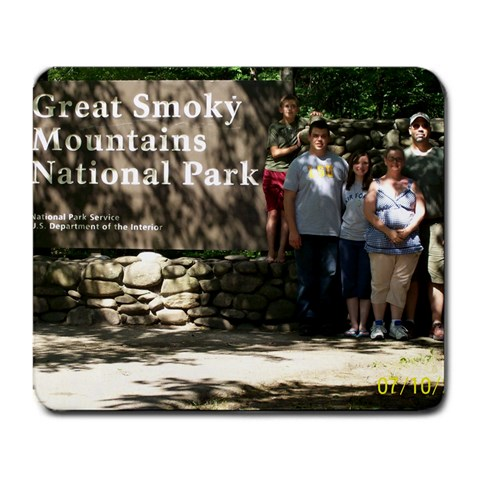 Smokey Mountains Vacation  By Lisa Giovino   Large Mousepad   Qldz2qca0uca   Www Artscow Com Front