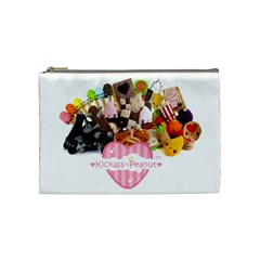Kickass Peanut Cosmetic Bag By Hannah Pagan   Cosmetic Bag (medium)   F2w2bonjwbbc   Www Artscow Com Front