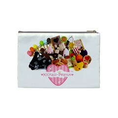 Kickass Peanut Cosmetic Bag By Hannah Pagan   Cosmetic Bag (medium)   F2w2bonjwbbc   Www Artscow Com Back